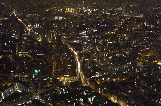 View of London streets at night (Stew Dean/CC-BY-2.0)