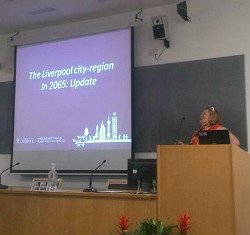 Dr Nicola Headlam talks about the future of Liverpool (Image courtesy of Lee Omar)
