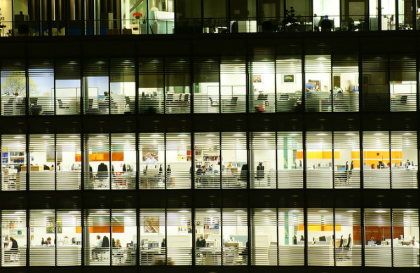 Office windows at night (jlcwalker/CC BY 2.0)