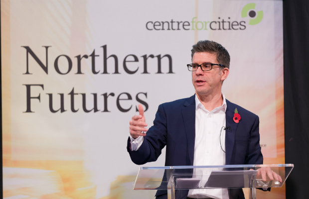 Andrew Carter at the Northern Futures Summit (Credit: Centre for Cities)