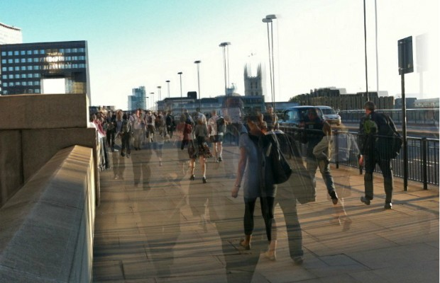 Commuters crossing London Bridge (credit: Adam Tinworth/CC BY-ND 2.0)