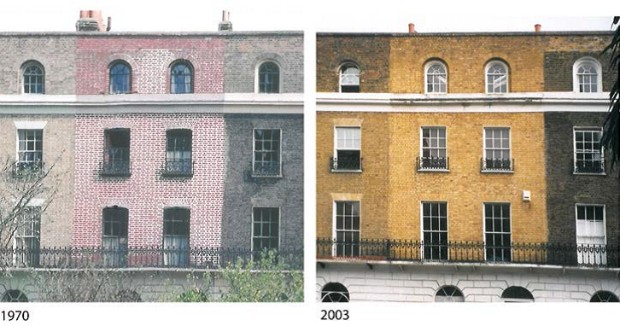View of a house in Islington in 1970 and 2003.